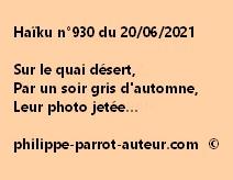 Haïku n°930 200621