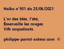 Haïku n°931 250621