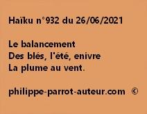 Haïku n°932 260621
