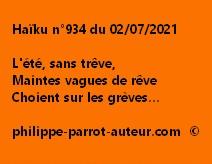 Haïku n°934 020721