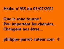 Haïku n°935 030721