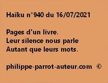 Haïku n°940 160721