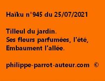 Haïku n°945 250721