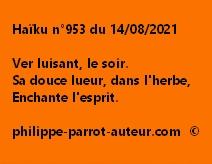 Haïku n°953 140821