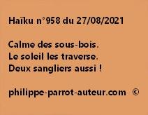 Haïku n°958 270821