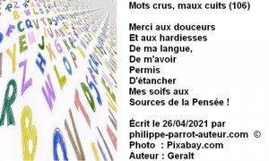 Mots crus, maux cuits 106